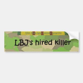 LBJ's hired killer Car Bumper Sticker