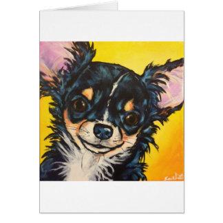 LC black tri Chihuahua 03 Card