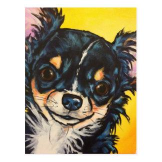 LC black tri Chihuahua 03 Postcard