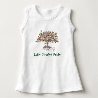 LC Pride Baby Sleeveless Dress (tree/white)