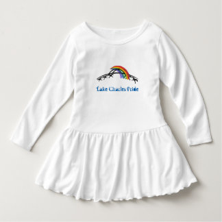 LC Pride Toddler Ruffle Dress (rainbow/white)
