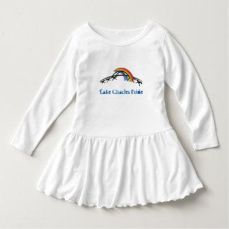 LC Pride Toddler Ruffle Dress (rainbow/white)