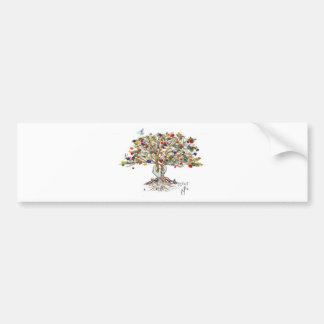 LC Pride Tree (customizable bumpersticker) Bumper Sticker