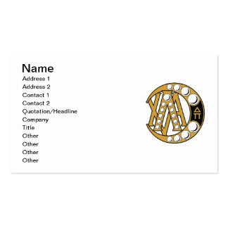 LCA Badge Gold Business Card