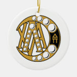 LCA Badge Gold Christmas Tree Ornament