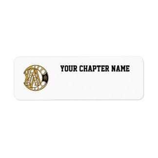 LCA Badge Gold Return Address Labels
