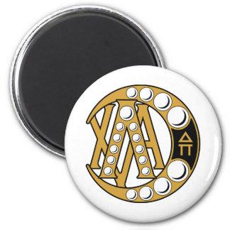 LCA Badge Gold 2 Inch Round Magnet