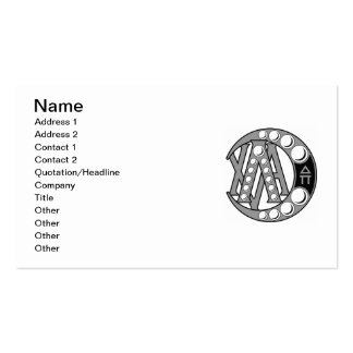 LCA Badge Gray Business Card Template