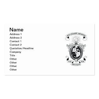LCA Coat of Arms B+W Business Card Templates