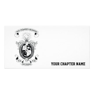 LCA Coat of Arms B+W Customized Photo Card