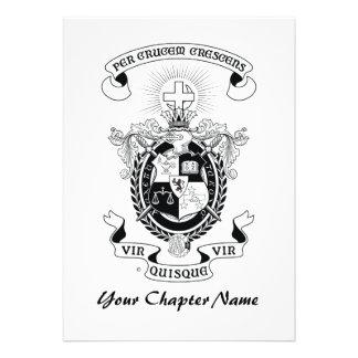 LCA Coat of Arms B+W Personalized Invite