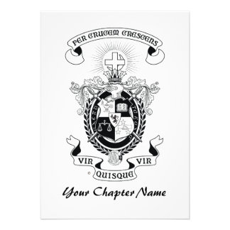 LCA Coat of Arms B+W Personalized Invite