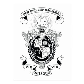 LCA Coat of Arms B+W Postcards