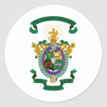 LCA Coat of Arms Color Classic Round Sticker