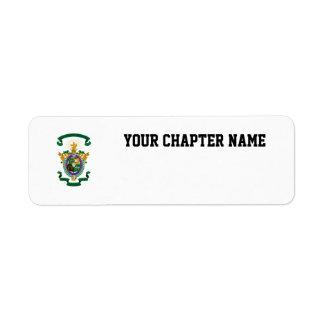 LCA Coat of Arms Color Return Address Labels