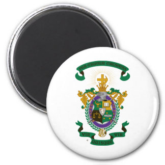LCA Coat of Arms Color 2 Inch Round Magnet
