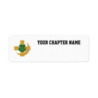 LCA Friendship Pin Color Custom Return Address Label