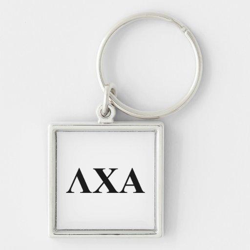 LCA Letters Silver-Colored Square Keychain