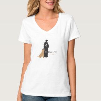 LCAR St. Francis Farm Women's V-neck Shirt