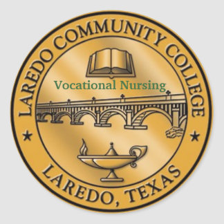 LCC Vocational Nursing logo Classic Round Sticker