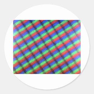 LCD microstructure Classic Round Sticker