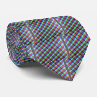 LCD microstructure liquid crystal display light co Neck Tie