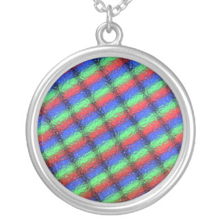 lcd microstructure silver plated necklace