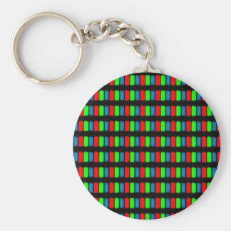 LCD mobile or computer screen micrograph Key Chains