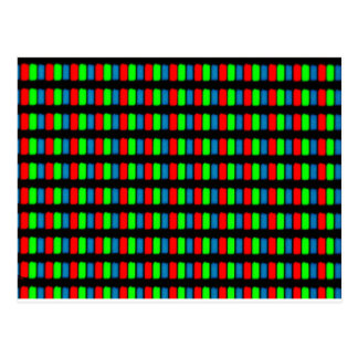 LCD mobile or computer screen micrograph Postcard