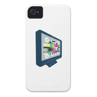 LCD Plasma TV Television Test Pattern iPhone 4 Case-Mate Cases