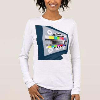 LCD Plasma TV Television Test Pattern Long Sleeve T-Shirt
