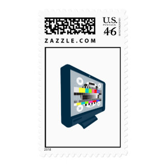 LCD Plasma TV Television Test Pattern Postage
