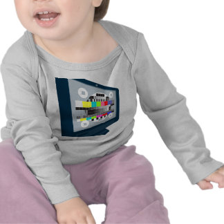 LCD Plasma TV Television Test Pattern Tee Shirt