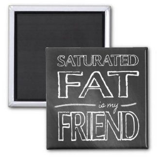 LCHF Magnet: Fat Is My Friend 2 Inch Square Magnet