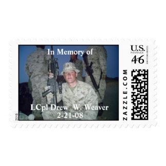 LCpl Drew. W. Weaver Postage Stamps