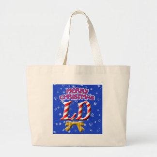 LD MERRY CHRISTMAS - LICENSED DIETITIAN LARGE TOTE BAG