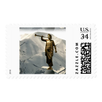 LDS Angel Moroni Postage Stamp
