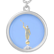 LDS angel Silver Plated Necklace