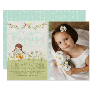 Lds Baptism Christening Invitations Zazzle