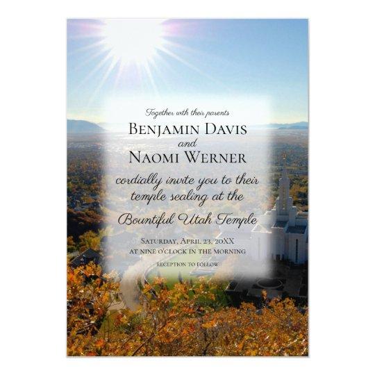 Lds Bountiful Utah Temple Wedding Invitations Zazzle Com