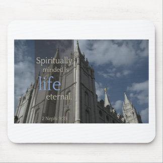 """LDS cita """"Minded es espiritual eterno de vida """" Alfombrillas De Ratón"""