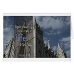 "LDS cita ""Minded es espiritual eterno de vida "" Tarjeta"