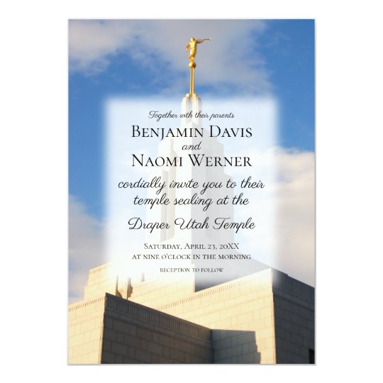 Wedding Invitations Fresno Ca: Mormon Lds Salt Lake City Ut Temple Invitation