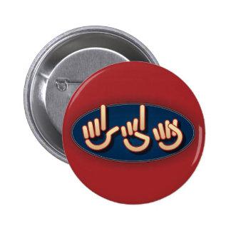 LDS en el ASL. botón Pin Redondo De 2 Pulgadas