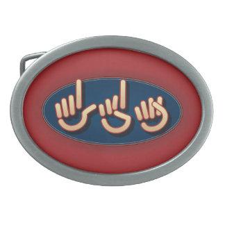 LDS en el ASL. hebilla del cinturón Hebillas De Cinturon Ovales