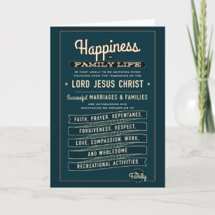 graphic about Lds Missionary Name Tag Printable named LDS Relatives Proclamation excerpt. greeting card. Card
