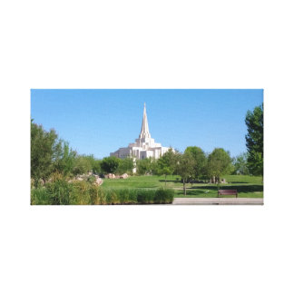 LDS Gilbert Temple Wrapped Canvas
