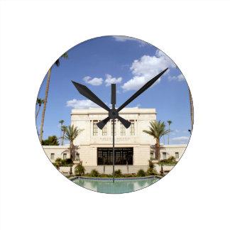 lds mesa arizona temple mormon picture round clock