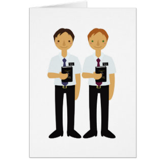LDS Missionaries Elder Companions Card