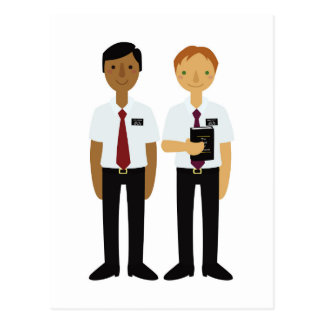 LDS Missionaries Elder Companions Postcard